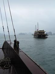 WET BOATS HALONG BAY (MURDERINTOYTOWN) Tags: sea wet water boats shine rope vietnam halongbay landscapesshotinportraitformat