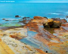 Mediterranean dawn - Aube sur la Méditerranée (FrenchLandscapes) Tags: blue sea mer france beach french landscapes rocks seascapes rocky bleu provence plage var paysages scenics rochers carqueiranne rocheux scenicsnotjustlandscapes méditerranéenmediterranean baurouge vosplusbellesphotos
