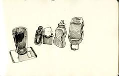 dallas bar 2008 (paul heaston) Tags: blackandwhite art moleskine ink notebook sketch artwork drawing sketchbook penandink