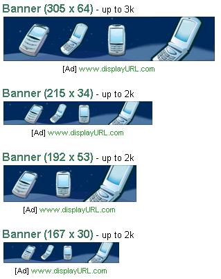 Bannergrößen