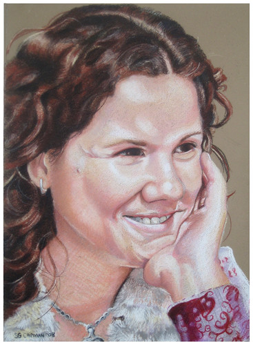 Colored Pencil Portrait entitled Jan