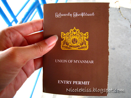 permit to enter burma