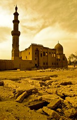 As-Sultan Inal Mosque. (Marwa Morgan) Tags: africa old sky tree architecture clouds religious nikon rocks egypt oldbuildings arabic cairo egyptian deserted egitto mosques egypte islamic afrique d40 islamiccairo nikor1855 1855mmf3556gii diamondclassphotographer muslimregionarchitecture gettyimagesmeandafrica1