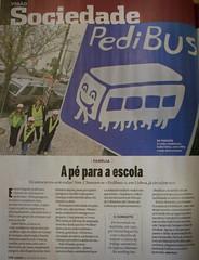 Pedibus - artigo na revista Visão