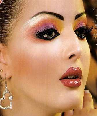 heavy arabic makeup. arab make up