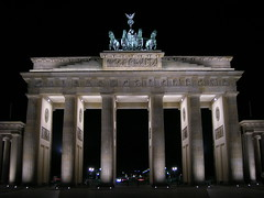 Brandenburg Gate at night (the-horse-is-gone) Tags: light berlin tourism night germany dark deutschland licht nacht capital hauptstadt sightseeing hell brandenburggate kaiser brandenburgertor nocturne pariserplatz prussia wahrzeichen erleuchtet nighttour langhans angestrahlt preusen