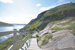 Battery Walk (TimAyres) Tags: travel canada stairs newfoundland landscape labrador battery scenic stjohns hike trail signalhill timayres