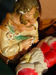 Jesus looking down on Santa