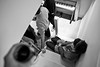 As seen from here (Gary Kinsman) Tags: party bw house glass stairs photography blackwhite focus alone arm emotion wine candid room piano surrey hardcore depression redhill canon5d sat 2010 lean canon28mmf18
