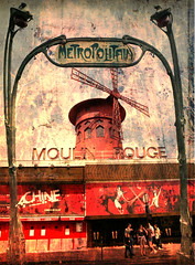 Le Moulin Rouge (texturedJohn) Tags: paris france dance textures cancan moulinrouge textured toulouselautrec skeletalmess