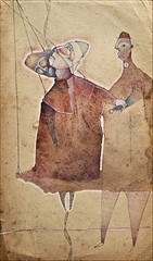 Il vecchio rapito dal cielo (il dormiente) Tags: old man paper poetry acrylic carta