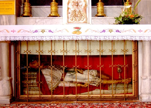 the relics of saints (and