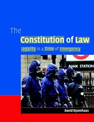 the-constitution-of-law-by-david-dyzenhaus (HiMY SYeD / photopia) Tags: books bookcover humanrights bookcovers civilliberties constitutionlaw