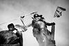(Hughes Léglise-Bataille) Tags: blackandwhite bw paris france statue noiretblanc flag nation protest photojournalism demonstration retirement manif manifestation 2007 cgt retraite spéciaux régimes