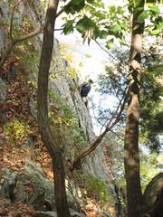 Rock climbers near the River Trail