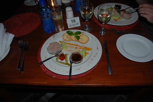 ostrich liver paté at Paljas Restaurant