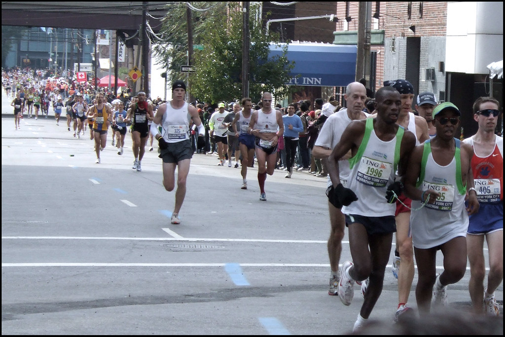 nyc marathon: blind marathoner!
