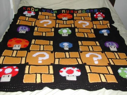 Crochet Pattern For Mario Blanket : Nintendo/ superhero project on Pinterest Afghans ...