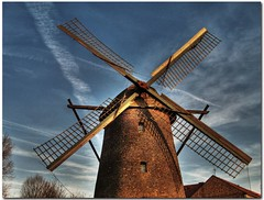 OLD MILL [HDR] (silviaON) Tags: november blue autumn light red sky brown white mill colors museum canon germany mhle europe son ixus hdr 2007 dinslaken blueribbonwinner historische photomatix tonemapped beautifulcapture mywinners flickrgold anawesomeshot superbmasterpiece diamondclassphotographer flickrdiamond betterthangood hiesfeld