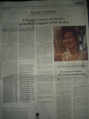 Manila Bulletin's Blog-O-Rama Interview: Published 3 Dec 07