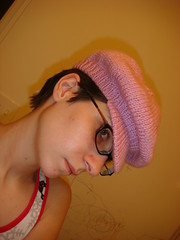 Pink Cabbie Hat 010