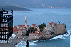 Storm in Montenegro (#1) (Subtle Shade) Tags: sea storm castle montenegro budva