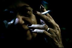 L'amica di famiglia (ArTeTeTrA) Tags: portrait woman hand cigarette smoking ring mano rod ritratto blueribbonwinner