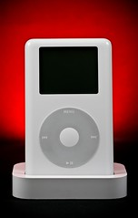 Apple iPod  (Alex Gilliard) Tags: red 20d apple canon macintosh mac ipod 100mm mp3player seamless 40gb productphotography sb26 ipodphotos 3rdgen strobist alexgilliard