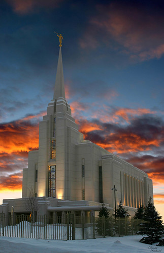 Rexburg Idaho Temple at Sunset 2 (Daniel Packard)