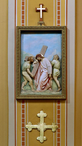 Saint Mary of the Barrens Roman Catholic Church, in Perryville, Missouri, USA - Station of the Cross