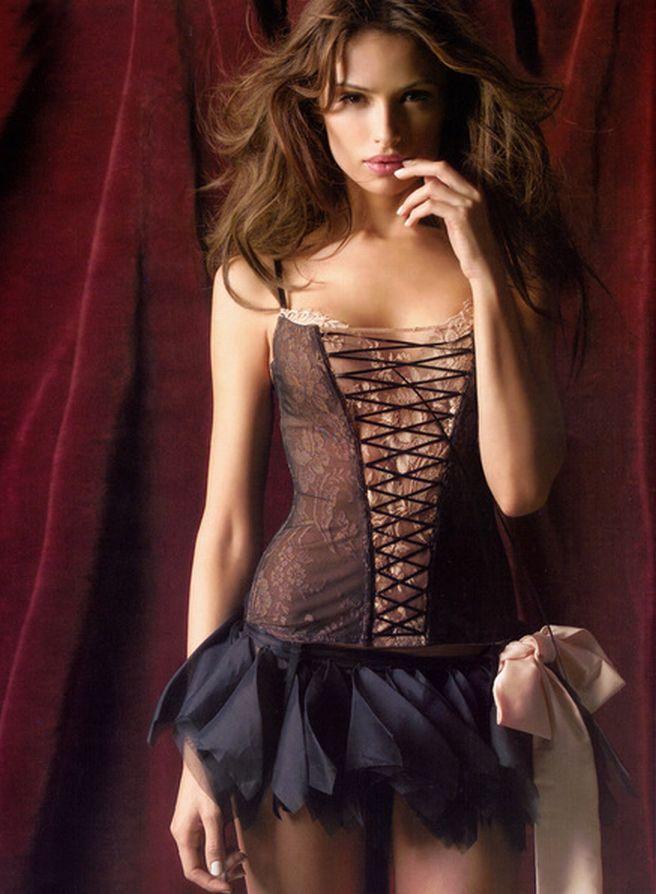 Lingerie, Almudena Fernandez, black, lace,