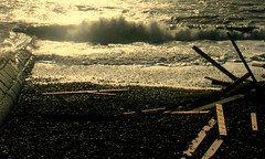 better late than never (microabi) Tags: beach brighton waves hoveactually canon400d washeduptimber iceprince cargoshipsunk