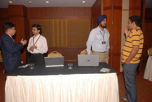 Milind and Jaspreet giving demo