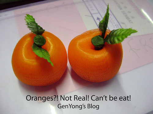 Not real oranges