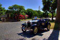 1929 Cab, Colonia, Uruguay (Thad Roan - Bridgepix) Tags: plaza old light lighthouse classic car vintage uruguay shadows cab taxi cobblestone colonia 200801