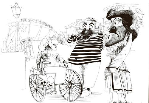 Disneyland via Ralph Steadman