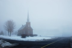 Fallowfield United (George*50) Tags: winter snow ontario canada church fog ottawa nikond50 soe fallowfield unitedchurch golddragon mywinners anawesomeshot absolutelystunningscapes rubyphotographer