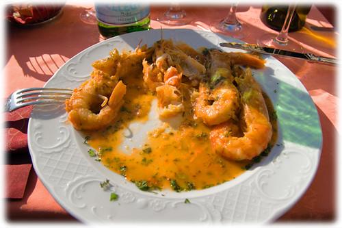 king prawns - Gamberoni alle erbe aromatiche
