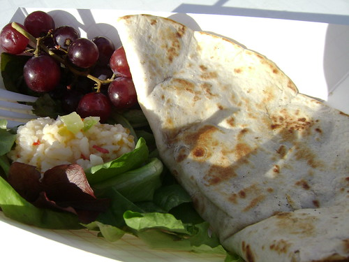 Sapna's Chill Out Cafe: brie and marmalade quesadilla