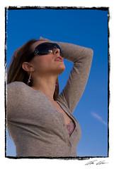 Mia (Shotlivephoto) Tags: sky beauty glasses model sony bra mia alanhess a200 diffuser lastolite
