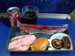 In flight snack on AirFrance AF2210 CDG-HAM
