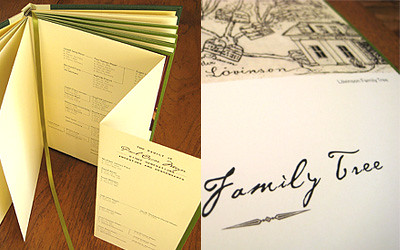 memoir - fold out family tree
