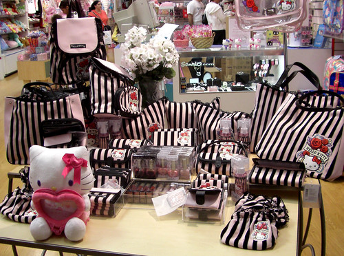 Pink & Black Hello Kitty Stuff