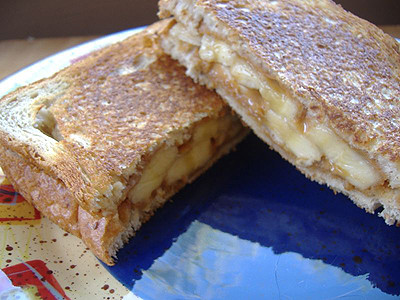 the warm melted peanut butter