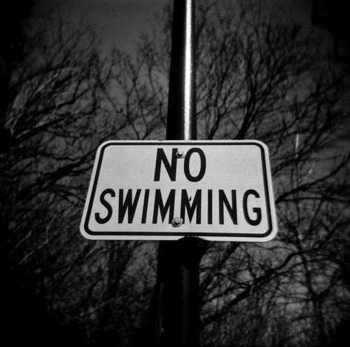 u no can haz swimming.