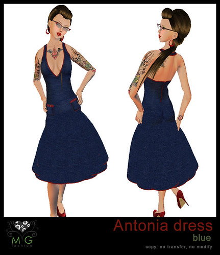 [MG fashion] Antonia Dress (blue)