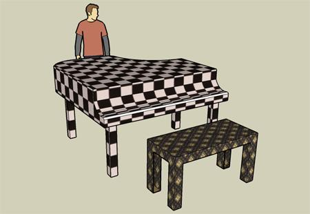 Piano ala Sketch Up
