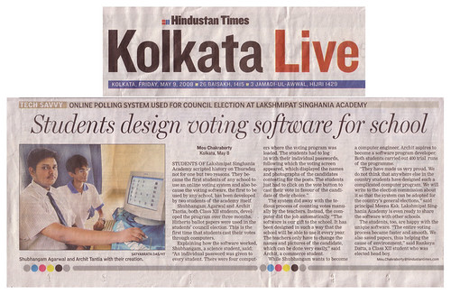 Hindustan Times News Article