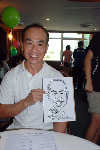 Caricature live sketching Temasek Fun Day 4
