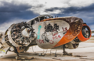 Grounded Lockheed PV-2